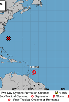 Tropical Storm Dorian rolling toward Caribbean, may weaken over Hispaniola before reaching Florida