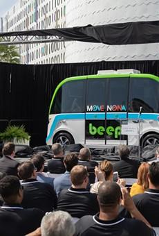 After a hurricane delay, Orlando's first autonomous buses finally begin routes in Lake Nona