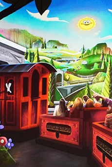 Concept art for Mickey and Minnie's Runaway Railway