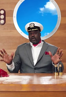 In a video seen in 34,000 staterooms, former Orlando NBA star Shaquille O'Neal is serious about safety