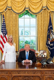 Pam Bondi in the Oval Office.