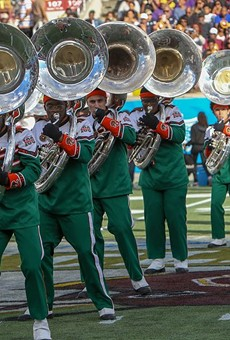 Photo of members of FAMU Marching 100.