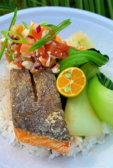 Taglish asked social media followers what they thought of the crispy salmon and buttered bok choy.