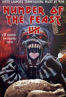 Bang your head after family turkey time at 'Number of the Feast' Thursday night