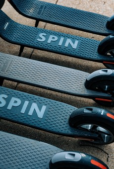 Spin, coming to UCF, is one of the many companies who can now offer their scooters in Orlando
