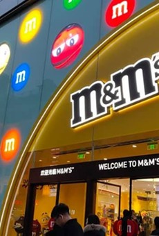 M&M World Shanghai's updated facade