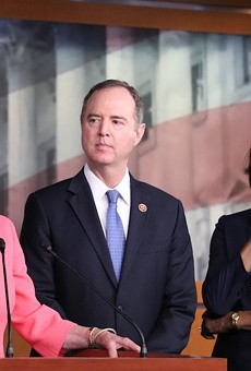 House Speaker Nancy Pelosi, Congressman Adam Schiff, and Congresswoman Val Demings