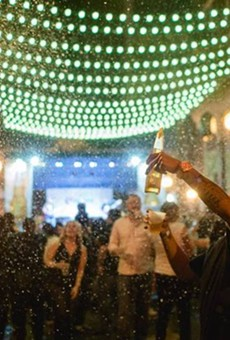 Wall Street Plaza's Snow Ball brings flurries to downtown Orlando
