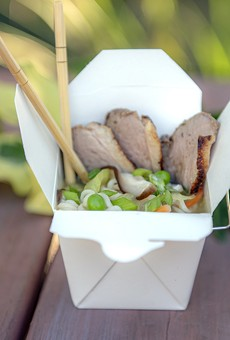 Duck and mushroom ramen bowl