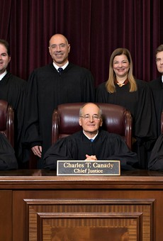 The Florida Supreme Court under Chief Justice Charles Canady after the appointment of three new Justices by Gov. Ron DeSantis
