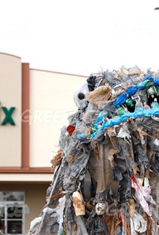 'Plastic monster' trolling Florida Publix stores to highlight the retailer's plastics problem