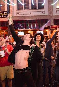 Get all the beads at Wall Street's Pre Pardi Gras Block Party in downtown Orlando