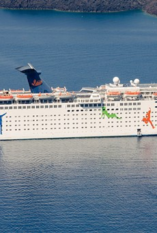2012 photo of the Grand Celebration in Greece, then branded under Ibero Cruises