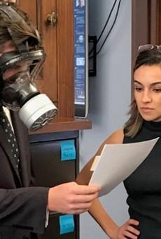 Rep. Matt Gaetz, Florida's most embarrassing man, wears gas mask to House coronavirus vote