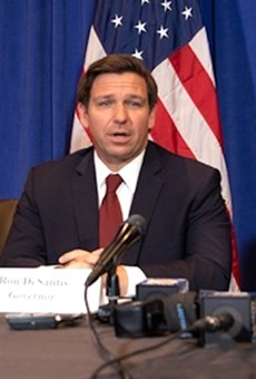 Gov. Ron DeSantis and Lt. Gov. Jeanette Núñez discuss coronavirus with VP Pence on Feb. 28