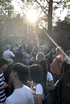 Saturday at Disney's Animal Kingdom, even a global crisis couldn't knock the wait time at Flight of Passage below an hour.