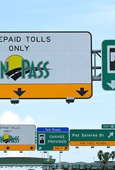 Florida's Turnpike toll plazas don't want your filthy dirty cash