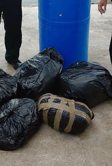 A 90-pound barrel of weed washed ashore in Florida last week