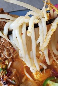 Vegan bún bò huế from Z Asian Vietnamese Kitchen