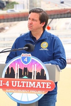 Gov. Ron DeSantis hoped to focus on I-4 construction on Monday.
