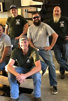 Members of the McCarthy Fabrication crew in October 2019