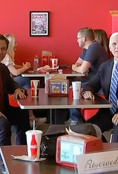 DeSantis and Pence met in Orlando in May