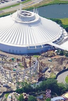 A photo from Aug 15, 2020, of the TRON coaster under construction at the Magic Kingdom