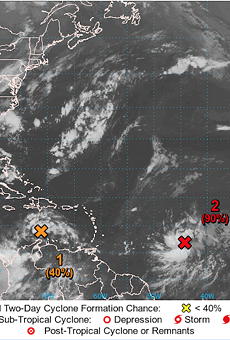 Three tropical storms brewing in the Atlantic, one may be headed towards Florida
