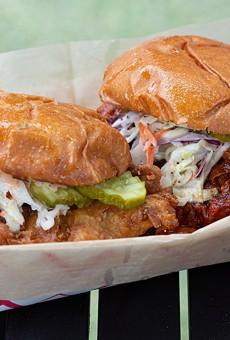 Nashville hat chicken sandwiches at Chicken Fire