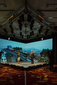 Marina Bay Sands' state-of-the-art hybrid event broadcast studio