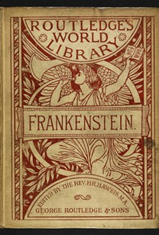 'Frankenstein' was first published anonymously in 1818.;Mary Shelley's name was added in 1823.