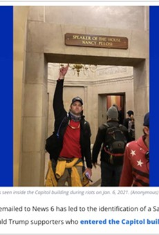 Sanford firefighter placed on leave after being photographed as part of mob that stormed the Capitol