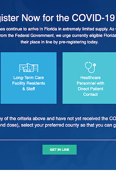 Myvaccine.fl.gov interface