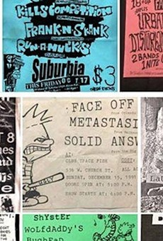 Orlando Punk Archive Flyer Gallery show at Will's Pub will display the many faces of DIY hustle