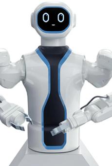 Rob, the robotic bartend on the MSC Virtuosa