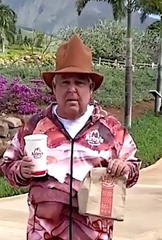 Orlando attorney John Morgan dons meat sweatsuit and apologizes to Arby's on Twitter