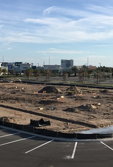 Construction of Orlando's Alamo Drafthouse had already begun, as shown in this photo from March 1, 2020.