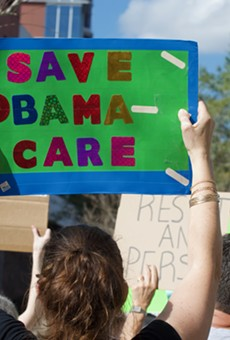 Hundreds rally in Orlando to save Obamacare