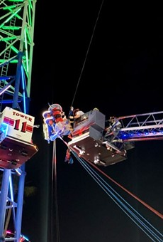Two teenagers were rescued from a malfunctioning ride at Old Town USA in Kissimmee.