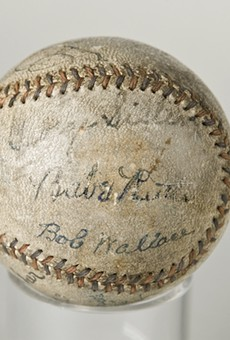 Baseball signed by Cobb, Gehrig, Ruth
