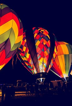 Ride a hot air balloon at Glow in the Park in Apopka this Memorial Day weekend