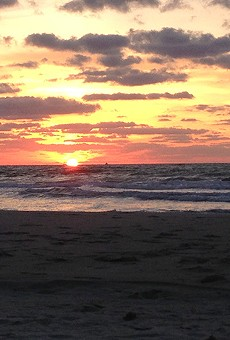 Cocoa Beach at sunrise.