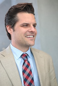 Matt Gaetz's 'America First' rally was shown the door by a California event venue after they learned of his involvement.