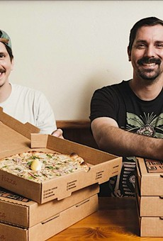 Christian and Floyd Ziegler show off the Wu-Tang Clam pie