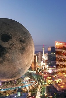 Concept art of a proposed Moon themed resort in Las Vegas
