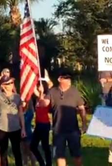 Central Florida Northrop Grumman workers protest upcoming federal vaccine mandate
