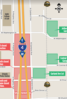 Two downtown Orlando parking lots are permanently closing today thanks to I-4 construction