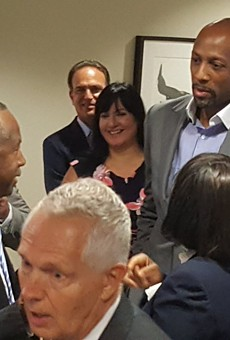 Ben Carson got stuck in an elevator while visiting a Florida housing project