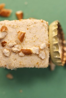 Guinness marshmallow topped with crushed pretzel. This is what your dad wants for Father's Day. He told us.