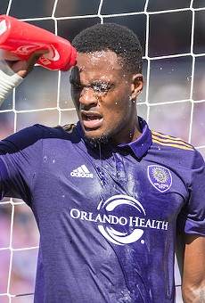 Orlando City  striker arrested for DUI after driving the wrong way down Orange Ave.